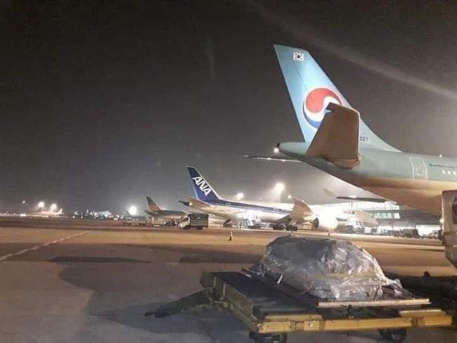 Nhói lòng trước hình ảnh linh cữu cố nghệ sĩ Chí Tài nằm lặng lẽ trong đêm khuya tại sân bay Tân Sơn Nhất-1
