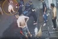 Thanh niên kẹp cổ, đánh cô gái rồi dùng mã tấu doạ chém nhiều người can ngăn ở Sài Gòn