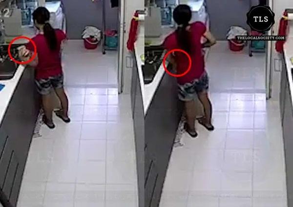 Đang chuẩn bị bữa sáng, nữ giúp việc cầm lát bánh mỳ đứng ra góc khuất và hành động tiếp theo khiến chủ nhà rùng mình chẳng dám ăn gì nữa-2