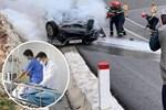 Hà Nội: Cháy lớn bãi rác rộng hơn 1.000m2 dưới chân cầu Thanh Trì, khói đen bao trùm cả bầu trời-16