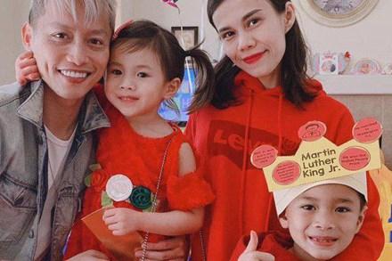 Loạt ảnh con trai 10 tuổi của Ngô Kiến Huy bên mẹ đẻ Thụy Anh và em gái cưng khiến fan tan chảy