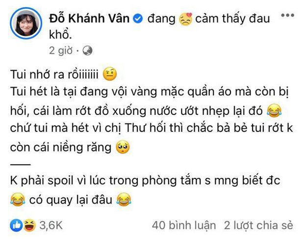 Khánh Vân nói gì về nghi vấn la làng với Nam Thư khi bị giục tắm nhanh trong tập mới Sao Nhập Ngũ?-2