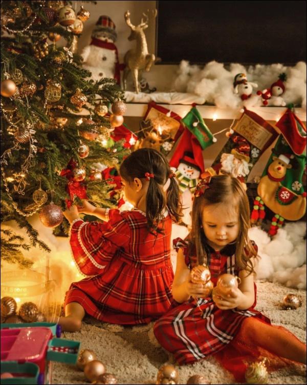 Sao Việt trang hoàng đón Giáng sinh: Đàm Vĩnh Hưng, Ngọc Trinhxa hoa khó ai sánh bằng,nhà Hà Tăng quá đỗi ấm áp,bình yên-16