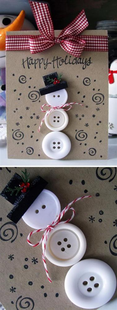 Những ý tưởng tuyệt vời để tự tay thiết kế một tấm thiệp Giáng sinh thật độc đáo và ý nghĩa gửi người thân yêu-2