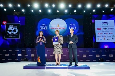 Vincom Retail vào top 10 thương hiệu dẫn đầu Việt Nam