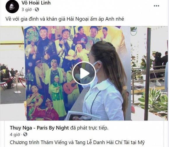 Rớt nước mắt với bài thơ Hoài Linh viết tặng cố nghệ sĩ Chí Tài trong tang lễ tại Mỹ-3