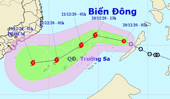 Áp thấp nhiệt đới vào Biển Đông-1