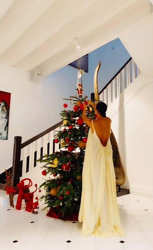 Thu Minh lên đồ gợi cảm cùng ông xã đón Giáng sinh sớm trong biệt thự 80 năm tuổi của Bằng Lăng-8