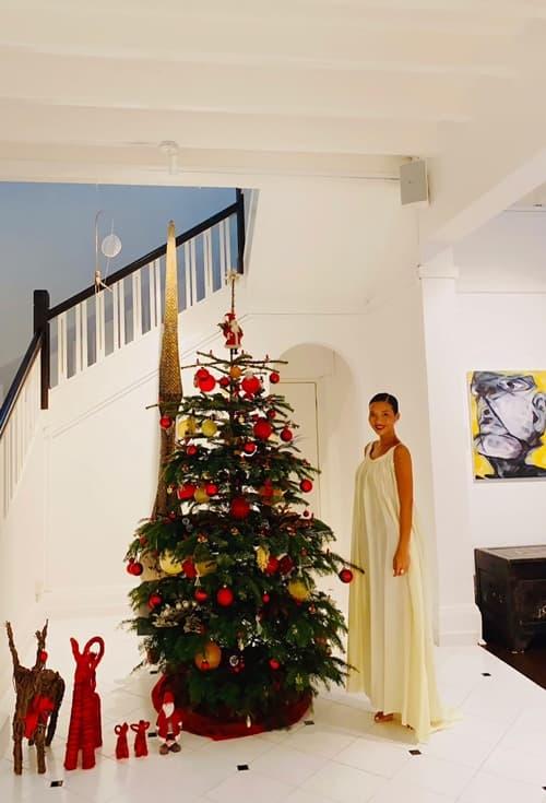 Thu Minh lên đồ gợi cảm cùng ông xã đón Giáng sinh sớm trong biệt thự 80 năm tuổi của Bằng Lăng-9