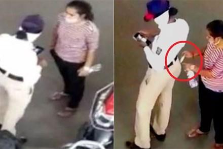 Video: Nữ cảnh sát giao thông vờ xem điện thoại để nhận hối lộ