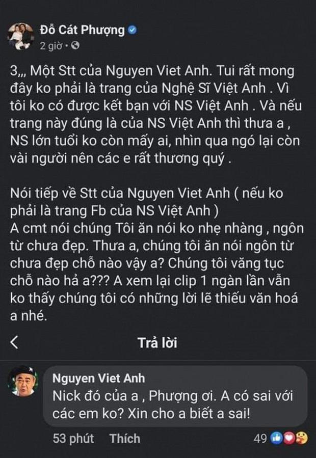4 lần Cát Phượng vạ miệng trên MXH: Phản pháo NSND Việt Anh, gây phẫn nộ khi nói về Minh Béo và lời thề liên quan đến An Nguy-2