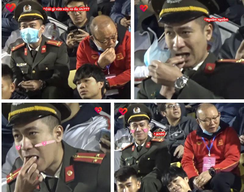 Camera ghi trọn khoảnh khắc cực đáng yêu của HLV Park Hang Seo: Dấm dúi cho cán bộ công an nửa chiếc kẹo socola đồng chí ăn đi này-3
