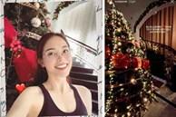 Phillip Nguyễn và Linh Rin khoe cây thông Giáng sinh chạm nóc, để lộ không gian xa hoa bên trong căn biệt thự