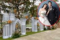 Bùi Tiến Dũng dựng rạp cưới hoành tráng, lung linh như lâu đài tại quê nhà
