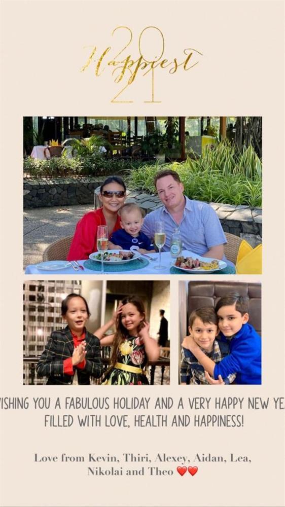 Vợ mới của chồng cũ Hồng Nhung nói lời yêu thương gửi đến hai con của nữ Diva vào dịp năm mới-2