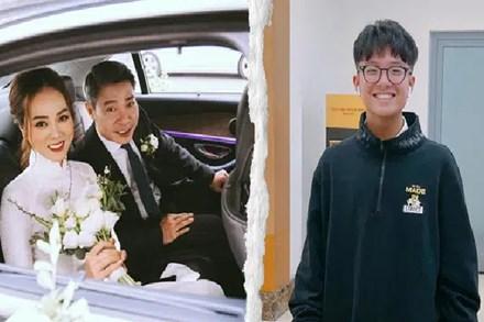 Con trai Công Lý vui vẻ đi dự đám cưới bố, lên phát biểu vài câu mà ai cũng khen nức nở: Mẹ Thảo Vân dạy con quá khéo!