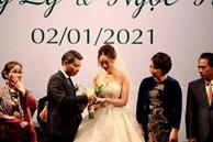 Khoảnh khắc đẹp trong lễ cưới Công Lý và Ngọc Hà