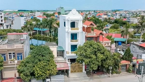 Cận cảnh căn nhà 4 tỷ như cung điện trắng của Youtuber NTN giữa lòng thành phố Thái Bình-1