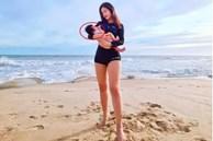 Đông Nhi bế con khoe dáng bên bờ biển, nhưng người hâm mộ lại chỉ chú ý đến chi tiết đặc biệt này của em bé