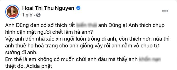 Hoa hậu Thu Hoài đăng status nói rõ thái độ hậu bị công kích, chồng Thu Phương 1 đáp 1 ngay và luôn-4