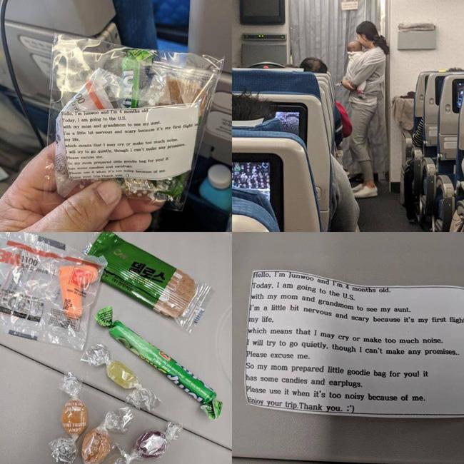 Sợ con quấy khóc làm phiền hành khách đi máy bay, mẹ có cách dỗ ngọt đặc biệt được dân mạng tán dương hết lời-1