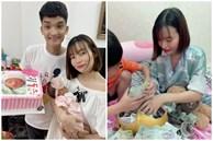 Tròn 1 tháng tuổi, con gái Mạc Văn Khoa ngày càng đáng yêu, gia nhập hội rich kid khi được bố mẹ tặng quà hơn 250 triệu đồng