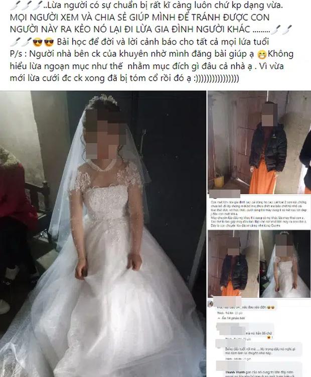 Xôn xao người phụ nữ 34 tuổi đã có chồng và 2 con khai gian thành gái tân 26 tuổi để cưới chú rể mới-1