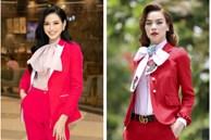 Hoa hậu Đỗ Thị Hà 'giật' spotlight nhờ suits đỏ nổi bần bật, netizen đồng loạt thắc mắc: 'Ủa sao giống Hà Hồ vậy?'