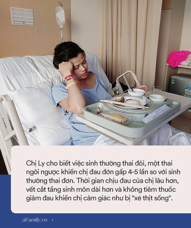 Mang thai đôi và có một thai ngôi ngược, mẹ Sài Gòn vẫn quyết tâm sinh thường không tiêm giảm đau, cảm giác như bị xé thịt sống-5