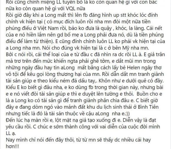 Linh Lan không phải vợ hợp pháp của Vân Quang Long: Con giáp thứ 13, đòi tiền phúng điếu nếu không đưa sẽ quậy-8