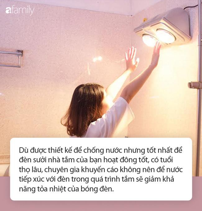 Dùng đèn sưởi nhà tắm vào ngày rét đậm: Chuyên gia khuyến cáo cần ghi nhớ 4 lưu ý sống còn-2