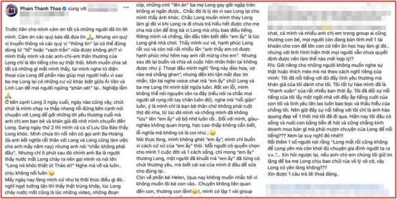 Phạm Thanh Thảo tiết lộ sự thật về vợ cũ Vân Quang Long, phân vân mở tài khoản cho bé Helen: Nên làm thế nào để hợp lý-1