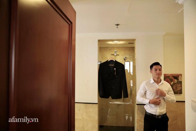Hình ảnh đầu tiên của cặp đôi Bùi Tiến Dũng - Khánh Linh ở khách sạn tổ chức đám cưới tại Hà Nội, nhan sắc cô dâu xinh đến ngỡ ngàng-9