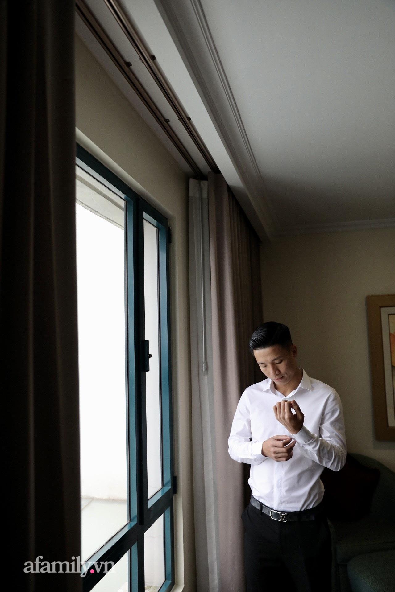 Hình ảnh đầu tiên của cặp đôi Bùi Tiến Dũng - Khánh Linh ở khách sạn tổ chức đám cưới tại Hà Nội, nhan sắc cô dâu xinh đến ngỡ ngàng-3