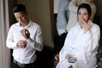 Cận cảnh chiếc váy cưới lấp lánh của vợ Bùi Tiến Dũng mặc trong hôn lễ ở Hà Nội, thêm 2 khu sân khấu cả ngoài trời - trong nhà cũng đều rất hoành tráng-5