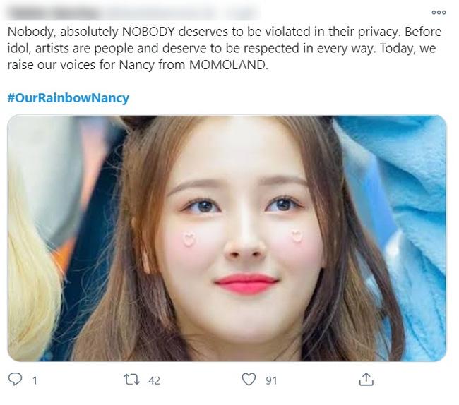 Biến căng: Nancy (MOMOLAND) bị lộ ảnh nhạy cảm khi đang thay đồ biểu diễn, là do fan Việt chụp lén?-1