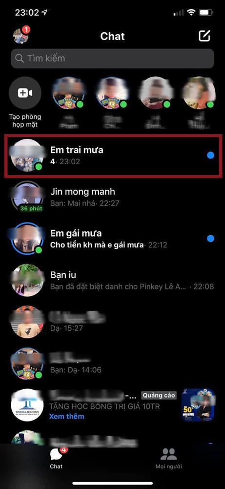 Mẹo đọc tin nhắn Messenger nhưng không bị lộ... đã xem-2