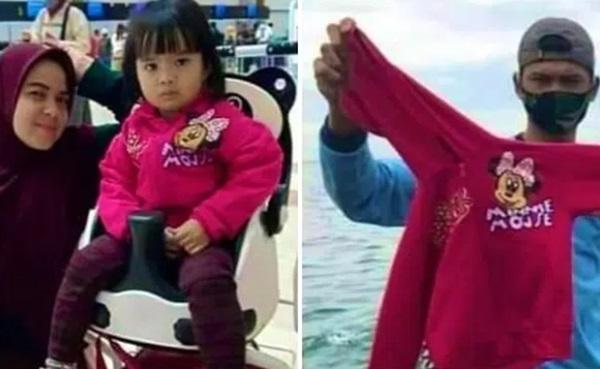 Vụ máy bay rơi ở Indonesia: Xúc động chiếc áo hồng của hành khách nhí được tìm thấy và câu chuyện con trai nhỏ ngăn bố lên máy bay tử thần được tiết lộ-3