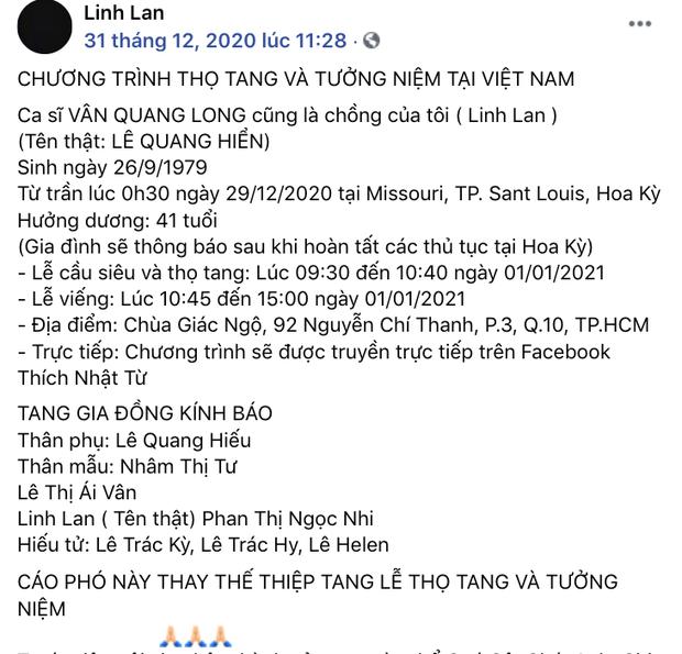 Vợ Vân Quang Long có động thái đầu tiên, ngăn chặn netizen tấn công giữa lùm xùm bị tố xúc phạm chồng và gia đình-1