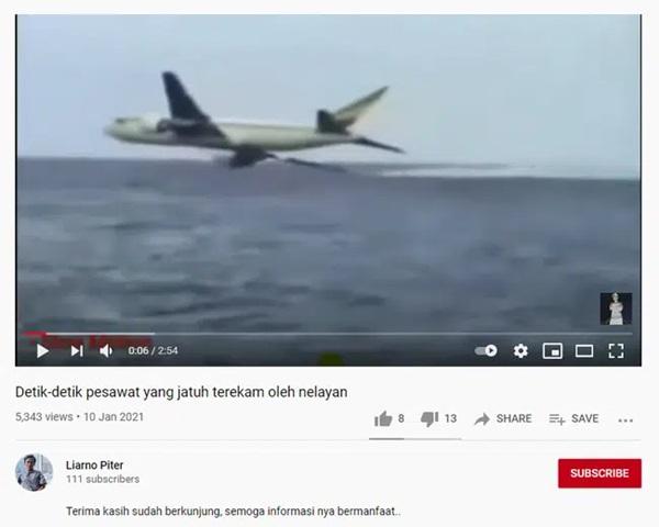 Mạng xã hội lan truyền video máy bay Indonesia lao thẳng xuống biển trong 20 giây ngắn ngủi gây ám ảnh, thực hư ra sao?-2