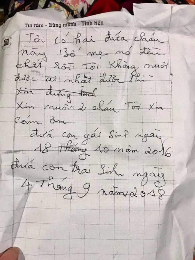 Người phát hiện 2 bé bị bỏ rơi ở Hà Nội kèm lời nhắn bố mẹ đều chết: Tôi sẽ xin nhận nuôi các cháu-3