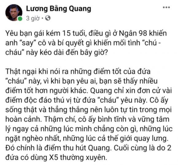 Lương Bằng Quang lần đầu bật mí lí do khiến anh say Ngân 98-2