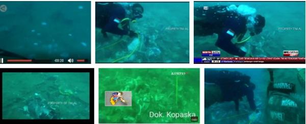 Video cận cảnh cảnh tượng hỗn độn dưới đáy biển nơi máy bay Indonesia rơi: Phương tiện bị phá hủy hoàn toàn, mảnh vỡ và thi thể người nằm rải rác-1