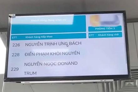 Cộng đồng mạng xôn xao về vị khách có tên Donand Trum theo phong cách Việt Nam độc nhất vô nhị