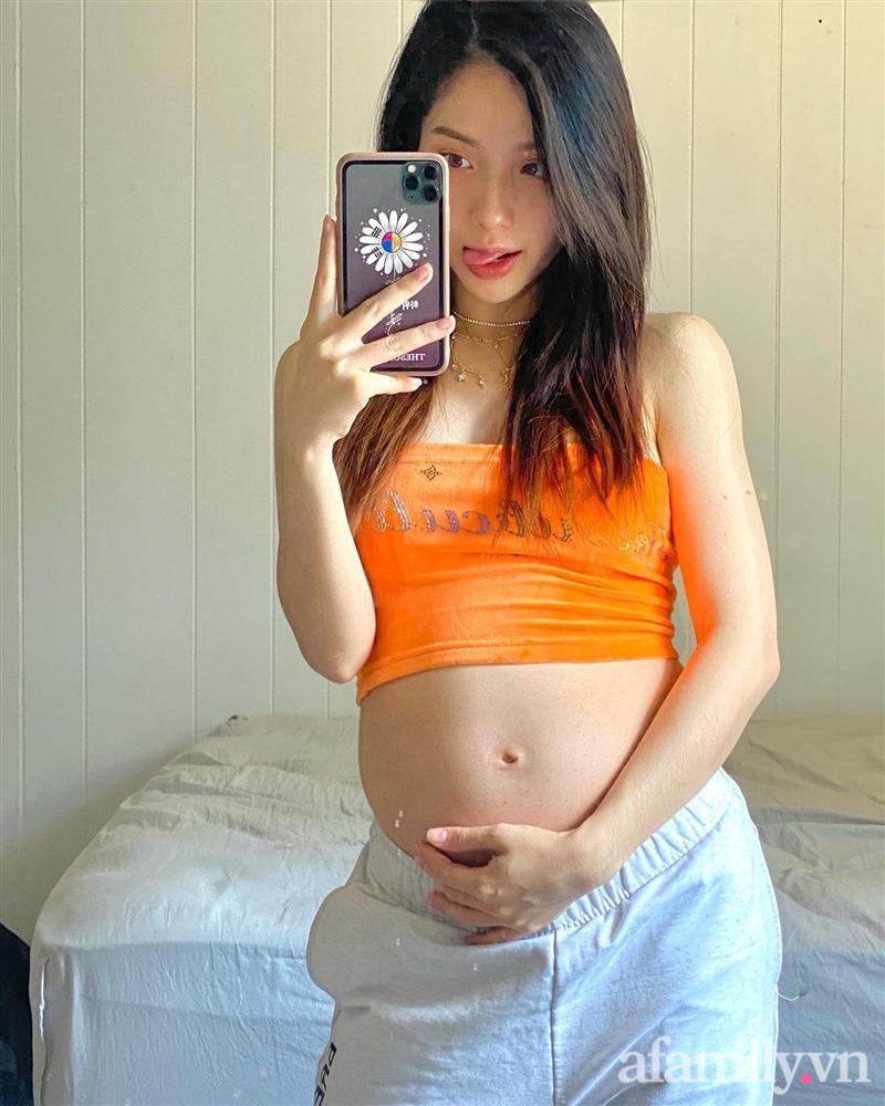Hot mom có gần 200 nghìn người theo dõi trên MXH: Mang thai đến tháng cuối chỉ tăng 10kg, chỉ cách ăn uống vào con đơn giản không tưởng-1
