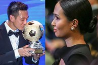 Vợ Văn Quyết rơi nước mắt vào thời khắc chồng được xướng tên ở Quả bóng vàng Việt Nam