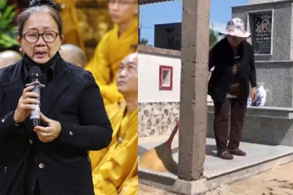 Mẹ ca sĩ Vân Quang Long lên tiếng về chuyện không nhận cháu ngay tại mộ của con