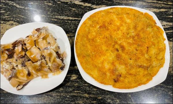 Lã Thanh Huyền đón Tết sớm, bàn ăn toàn món ngon truyền thống, riêng bánh chưng rán hấp dẫnhợp cảnh ngày đônglạnh-6