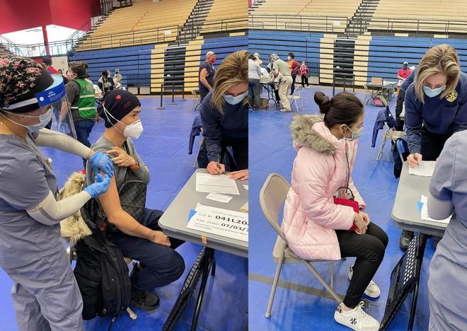 NSƯT Bảo Quốc được bà xã hộ tống đi tiêm vắc xin Covid-19-3