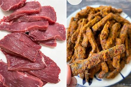 Mách bạn cách chế biến món thịt bò khô thơm ngon chuẩn vị, ngày Tết đãi khách nhâm nhi vừa sang vừa độc đáo